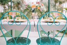 Aqua outdoor chairs