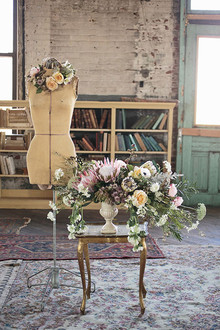 Industrial Wedding Decor and Florals