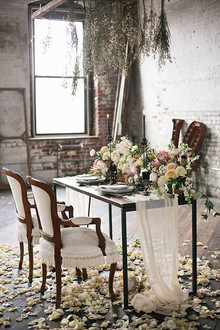 Industrial Wedding Flower Decor