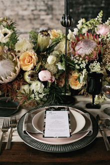 Industrial Wedding Place Setting