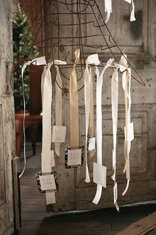 Industrial Wedding Escort Cards