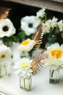 White floral decor
