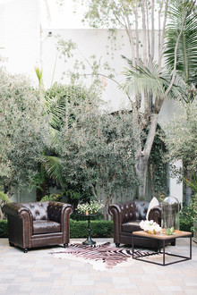 Modern Green and White Wedding Lounge Area