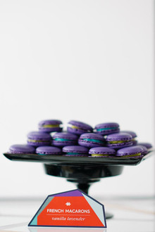 DVF Bridesmaid Party Inspiration Purple Macarons