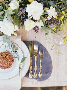 Intimate Outdoor Rehearsal Dinner Place Setting