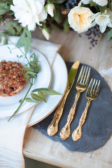 Intimate Outdoor Rehearsal Dinner Flatware