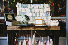 DIY Los Angeles Wedding Gift Table