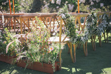 Greenery chair garland