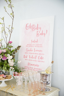 Baby shower dessert bar
