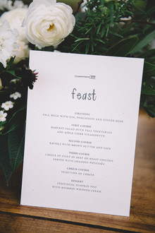 Kinfolk inspired menu