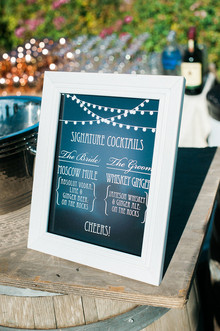 Chalkboard cocktail menu