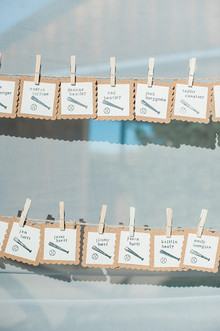 Baseball themed escort cards