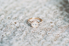 Delicate rosegold wedding ring