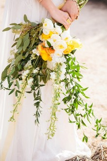 Yellow and green bouquet