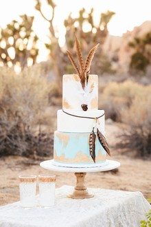 Bohemian cake with feathers
