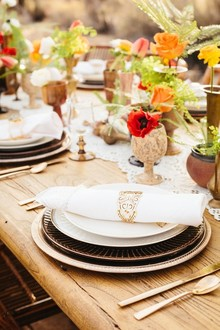 Bohemian desert table scape