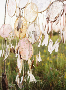 Dreamcatcher vintage lace backdrop