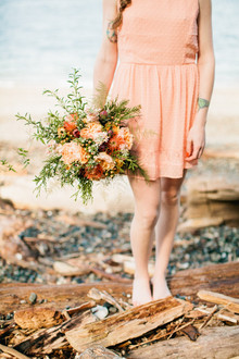 Coral and peach bouquet