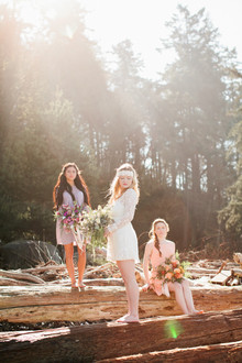 Outdoor bohemian bridesmaid inspiration