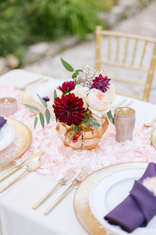 Colorful plum centerpiece