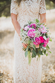 Fuchsia and light pink bouquet