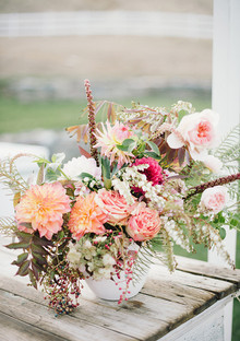 Colorful modern centerpiece