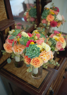 Colorful modern Mexican bouquets