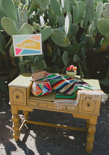 Modern Mexican themed gift table