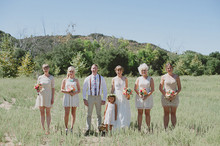Outdoor wedding party photos