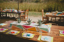 Modern Mexican wedding tablescape