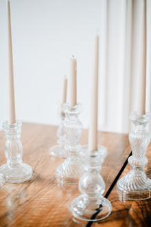 White tapered candles