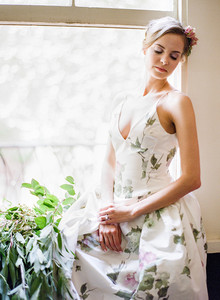 Floral reception dress