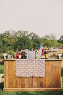 Outdoor cocktail bar