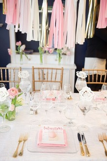 Modern pink bridal shower