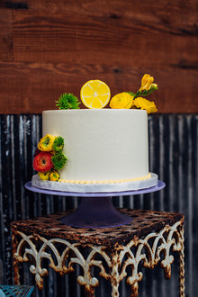 Citrus inspired wedding cake