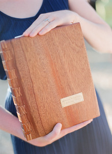 Wood guestbook