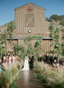 Rustic vineyard ceremony