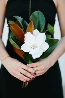 Magnolia leaf bouquet