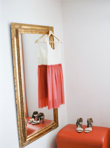Casual wedding dress and shoes