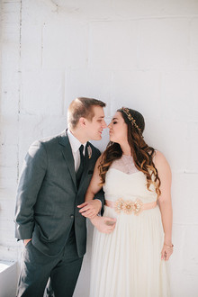Loft wedding portrait