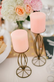 Pink and gold candles