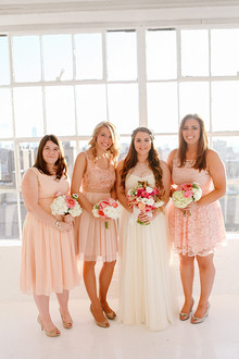 New York loft wedding bridesmaid