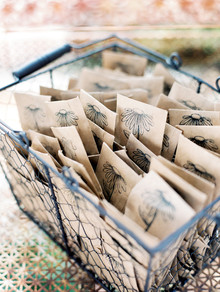 Flower seed favors