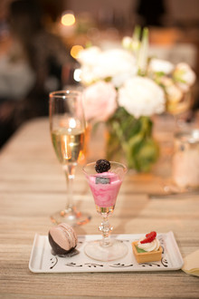Elegant wedding dessert