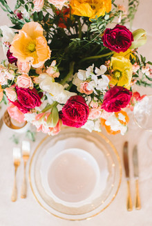 Gold place setting