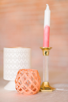 Dip dyed candle