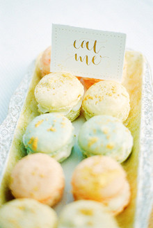 Gold leaf macarons