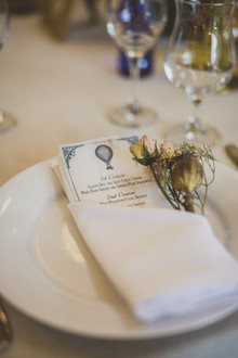 Farm wedding place setting