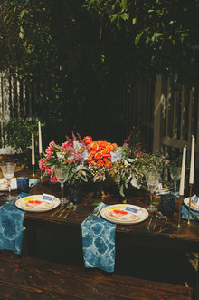 Orange and blue bridal shower inspiration