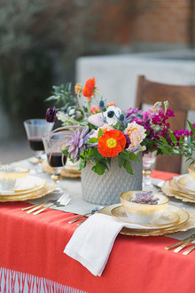 Spanish wedding inspired centerpiece
